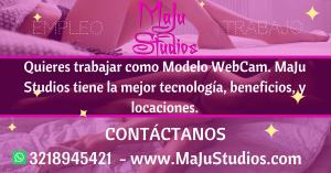 Trabajar como modelo webcam Manizales desde studio - MajuStudios maju studios