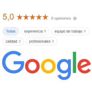 Opiniones en Google de MaJu Studios