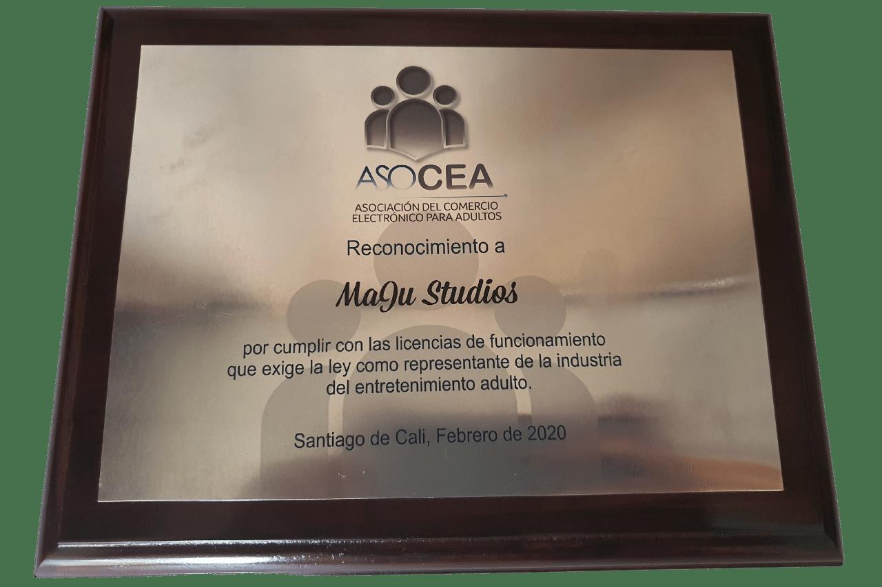 Reconocimiento a MaJu Studios por parte de ASOCEA