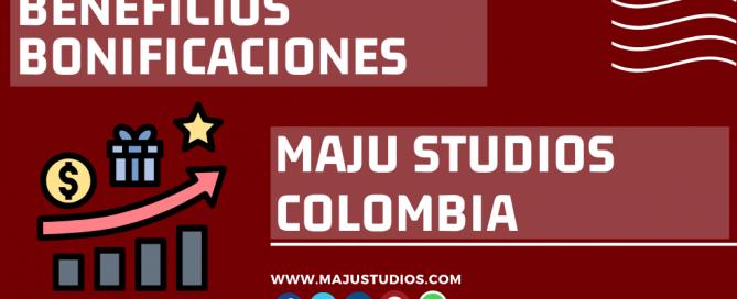 Beneficios BOnificaciones e Incentivos MaJu Studios Modelos Webcam